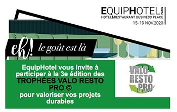 EquipHotel vous invite à participer à la 3e édition des TROPHÉES VALO RESTO PRO © pour valoriser vos projets durables
